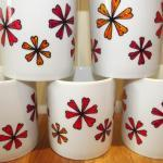 Hand Drawn Flower Mug